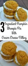 Pumpkin Whoopie Pie Recipe Pinterest by 3 Ingredient Pumpkin Whoopie Pie With Cream Cheese Filling Moms