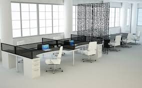modern commercial office furniture modern office furniture bench style workstation with black glass