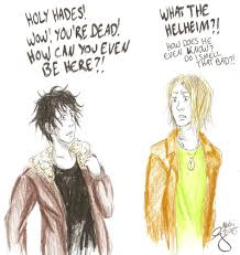 Magnus Chase and Nico DiAngelo by Akki