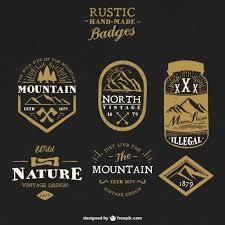 Rustic Handmade Badges Free Vector