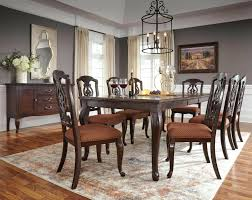 Brown 9 Piece Dining Room Set Sets Cheap