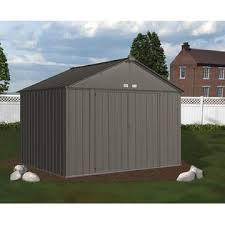 arrow galvanized steel storage shed 10x8 arrow ez10872hvcc 10 x 8 ezee shed galvanized steel storage