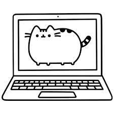Pusheen Coloring Pages To Print Good And Books A Colouring
