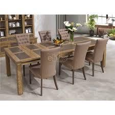table salle à manger chêne massif pieds bois plateau céramique