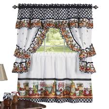 Amazon Mason Jars Kitchen Rod Pocket Window Curtain Set Brown 57 X 24 Home