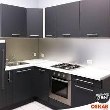 meuble d angle bas pour cuisine cuisine grise porte effet touch ginko gris mat armoires