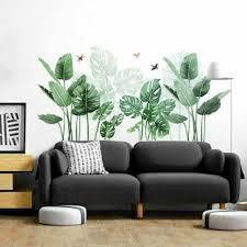 tropische blätter grün pflanze wand sticker vinyl aufkleber