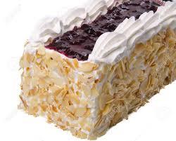 kuchen eis kuchen auf weißem hintergrund