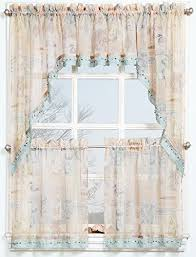Lichtenberg Curtains No 918 by Amazon Com No 918 Seascape Kitchen Curtain Tier Pair 56
