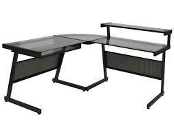 L Shaped Computer Desk by Z Line Belaire Glass L Shaped Computer Desk Black Crustpizza