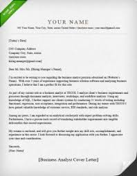 Cover Letter Example Business Analyst Elegant