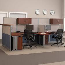 Bestar U Shaped Desks by Bush Office In An Hour Melamine U Shaped Double Workstation
