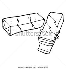 Chewing Gum Cartoon Stock Vector Tattoo This Freehand drawn black and white