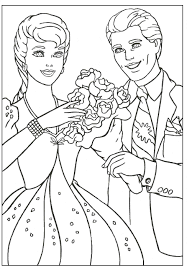 Coloring Pages Kids Barbie And Ken Picture In