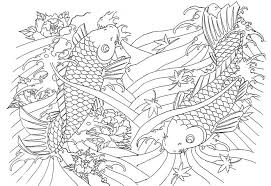 Japan Huge Fishes More Coloring Pages