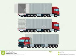 Trucks Container Delivery Shipping Cargo. Illustration Vector Stock ...