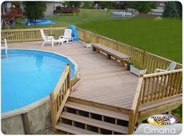Above Ground Pool Deck Images by Above Ground Pools Decks Idea Above Ground Pool Deck Designs