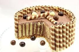 wafer cake mit schokoladensahne schokoladentorte mit