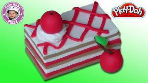 wie mache ich einen kirschkuchen aus play doh knetmasse kinderknete пластилин plastilina