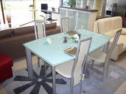 table en verre cuisine repas extensible noir 120 newsindo co