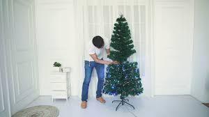 Green Mini Fibre Optic Christmas Tree by Assembled Fibre Optic Led Christmas Tree By Hisp Uk Youtube