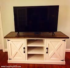 This Large Farmhouse Style Media Console Has A Thick Top Rustic X Accents And Plenty Of Storage For Uh Y Stuff Or Ginormous Tv