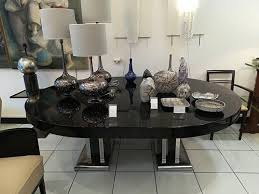 Large Black Lacquered Dining Room Table 1930s 7 2426700 Price Per Piece