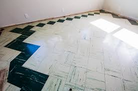 painting the living room floor tiles part i