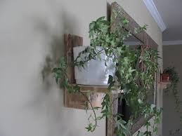 Rustic Wood Plant Holder Reclaimed Wall Candle Decor