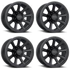 100 6 Lug Truck Wheels Set 4 18 Vision 353 Turbin Black 18x9 X55 18mm Chevy GMC