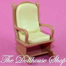 99 Get Prices Nursery Rocking Chair Fisher Price Loving Family Dollhouse Brown Yellow