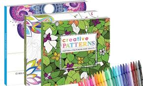 2 Piece Adult Colouring Book Sets