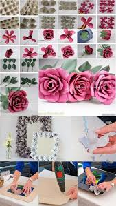 Extraordinary Egg Carton Decorative Flowers