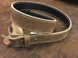 texas saddlery genuine leather casual belt brown rough out men u0027s