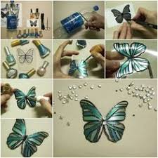 How To Make Nail Oil Polished Butterfly From Plastic Bottles Tutorial And Instruction Follow Us