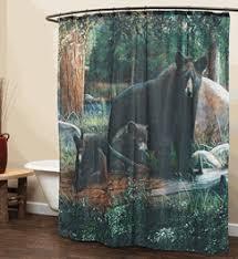 Rustic Shower Curtains Moose Bear & Pinecone Designs