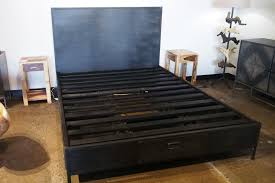 100 11 Wood Loft Queen Bed Made Of Metal With 5 Drawers