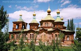 The Russian Orthodox Holy Trinity Cathedral in Kyrgyzstan's eastern city of Karakol was completed in 1895 to serve Russian settlers. Today the Orthodox Church is competing for members with a variety of Protestant denomination in Kyrgyzstan. (Photo: David Trilling)