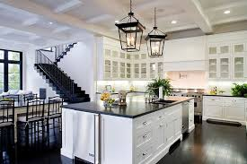 Kitchen White Cabinets Dark Wood Floors And Decor