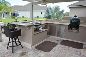 Full Size Of Kitchens Best Outdoor Kitchen With Pergola Knee Wall Big Green Egg And