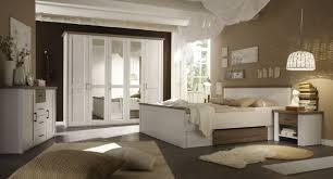 schlafzimmer mit bett 180 x 200 cm pinie weiss trüffel