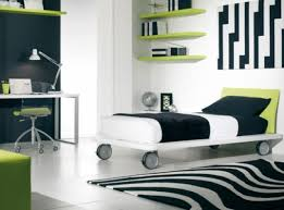 bedroom boy bedroom ideas with white and black wall and