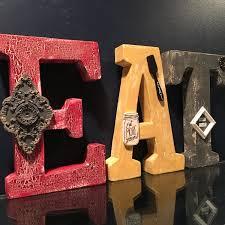 Eat Sign Rustic Wood Lettersrustic Kitchen Decor