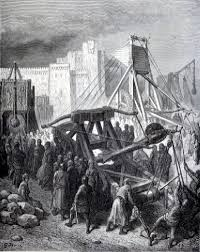 siege engines trebuchet catapult and siege engine illustrations of
