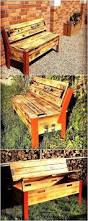Pallet Outdoor Chair Plans by 144 Best Pallet Benches Images On Pinterest Pallet Benches