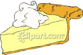Slice of Cream Pie Royalty Free Clipart Picture