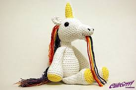 Crochet Unicorn Vomiting A Rainbow