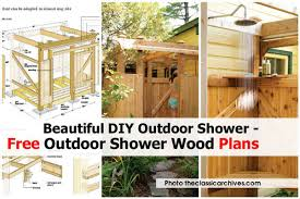 outdoor shower wood theclassicarchives com jpg