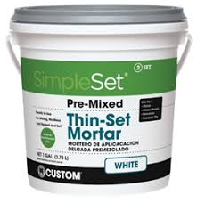 simpleset pre mixed thin set mortar custom building products