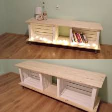 Wooden Crate Tv Stand Apple Crates As Pallet Stands Entertainment Centers And Diy Wood Full
